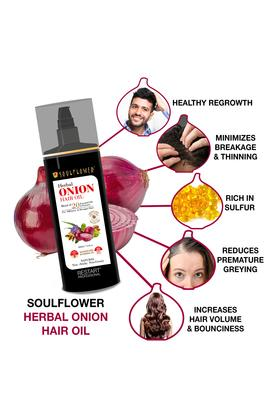 Herbal Onion Hair Oil with Ratanjot Herb for Grey Hair - 220 ml