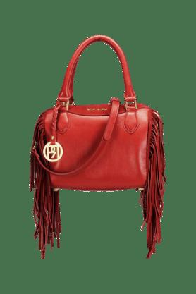 Womens Leather Zipper Closure Hobo Handbag