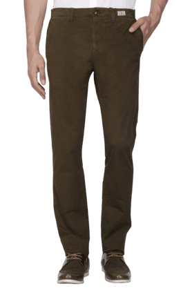 TOMMY HILFIGERMens 4 Pocket Slim Fit Solid Chinos - 200781393