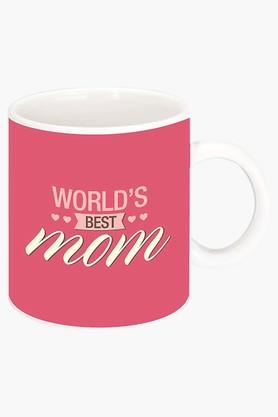 CRUDE AREA Worlds Best Mom Printed Ceramic Coffee Mug