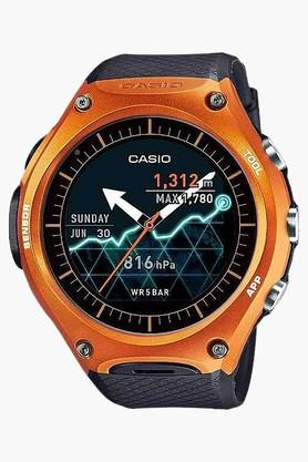 CASIO Orange With Black Band Smart Outdoor Watch WSD-F10RG