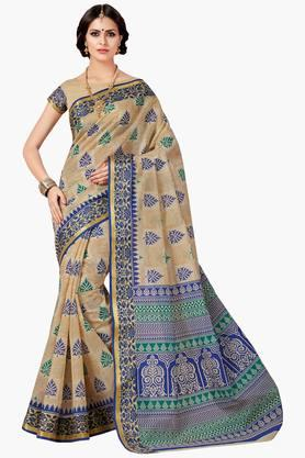 ASHIKA Womens Designer Cotton Printed Saree - 202338219