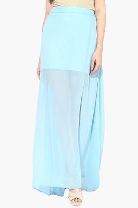 MISS CHASE Womens Solid Maxi Skirt