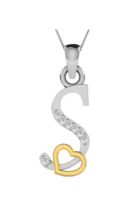 SPARKLES His & Her Collection 18 Kt Pendant In Gold & Real Diamond HHP11198