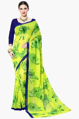 Women Faux Georgette With Bangalori Blouse Printed Saree