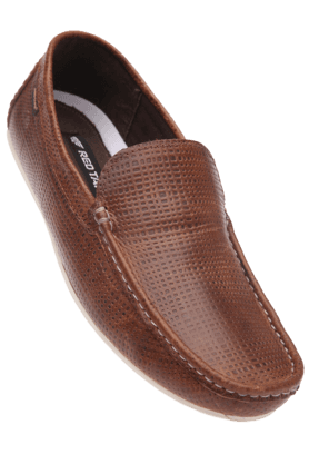 RED TAPE Mens Brown Casual Leather Slipon Shoe