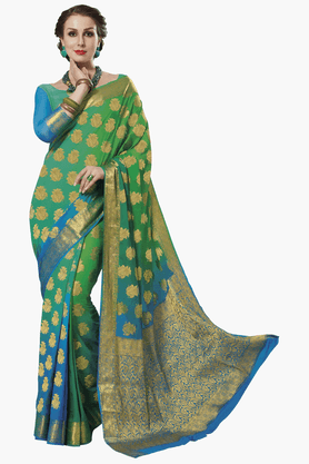 ASHIKA Womens Colour Block Saree - 201461560