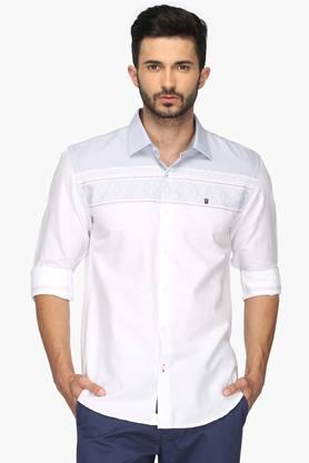 Louis Philippe Sports Formal Shirts (Men's) - Mens Slim Fit Printed Shirt (Union Fit)