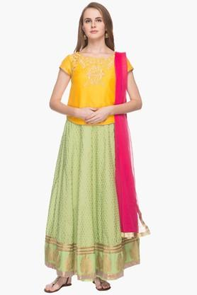 Haute Curry Chaniya, Ghagra Cholis - Womens Embroidered Lehenga Choli Set