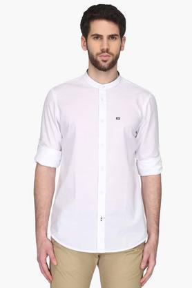 Arrow Sport Formal Shirts (Men's) - Mens Mao Collar Solid Shirt