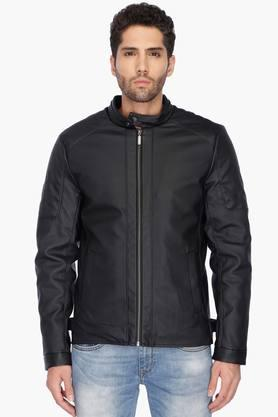 UNITED COLORS OF BENETTON Mens Regular Fit Solid Jacket - 201225872