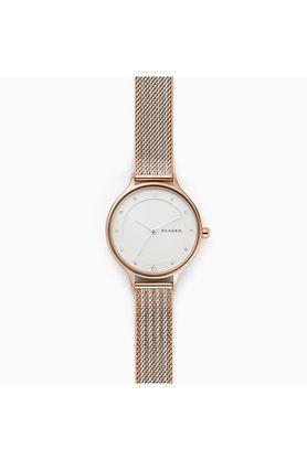 Womens White Dial Metallic Analogue Watch - SKW2749