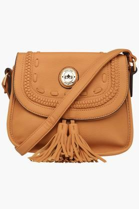 RS BY ROCKY STAR Womens Leather Snap Closure Sling Bag