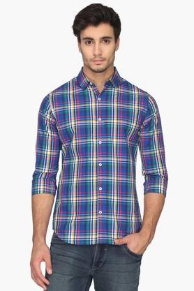 United Colors Of Benetton Formal Shirts (Men's) - Mens Regular Collar Checks Shirt