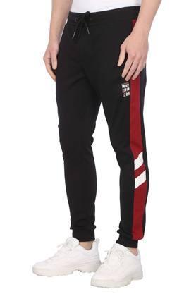 Mens 3 Pocket Solid Sports Joggers