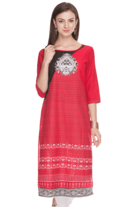 AURELIA Women Slim Fit Printed Kurta - 200758933