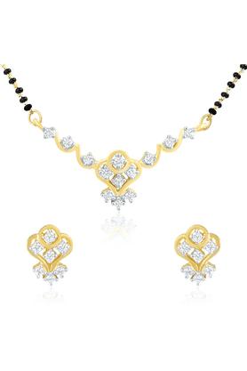 MAHIMahi Gold Plated Mangalsutra Set With CZ For Women NL1101427G