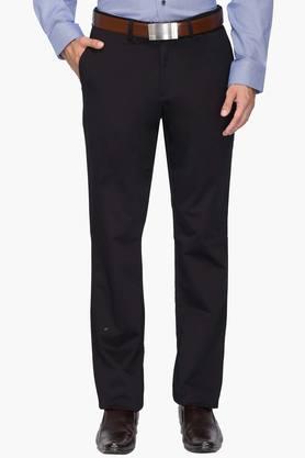 BLACKBERRYSMens 4 Pocket Regular Fit Solid Formal Trousers - 202123917