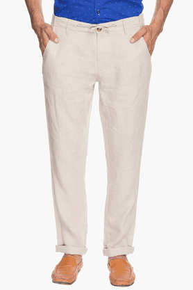 JACK AND JONES Mens Slim Fit Solid Trousers