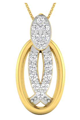 SPARKLESHis & Her Collection 18 Kt Pendant In Gold & Real Diamond HHP9628