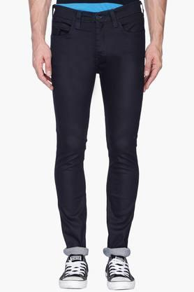 Mens Skinny Fit Coated Jeans