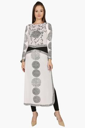 IRA SOLEILWomens Slim Fit Printed Kurta (Buy Any Ira Soleil Product And Get A Charms Bracelet Free) - 201787624