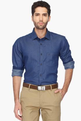 Color Plus Formal Shirts (Men's) - Mens Regular Collar Printed Shirt