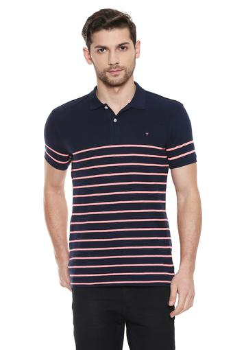 LOUIS PHILIPPE SPORTS -  Navy Blue T-shirts - Main