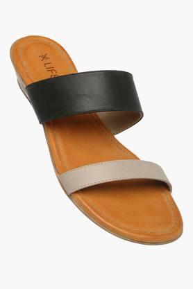 LIFEWomens Daily Wear Slipon Wedge Sandal