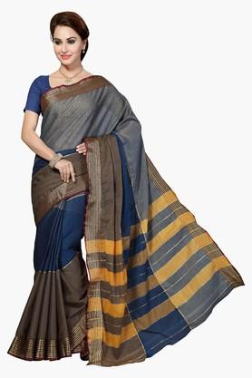 ISHINWomens Poly Silk Woven Saree