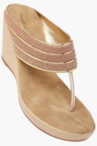 HAUTE CURRY -  Gold Platform & Wedges - Main