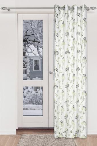 Embroidered Sheer 2 in1 Door Curtain