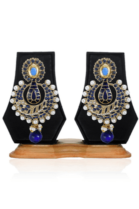 ZAVERI PEARLS Beautiful Enamel Chandbali Earring - ZPFK2481