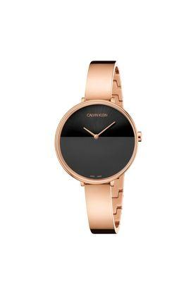 Womens Black Dial Stainless Steel Analogue Watch - K7A23641
