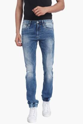 JACK AND JONES Mens 5 Pocket Stretch Jeans (Glenn Fit) - 201415687