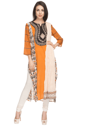 IMARA Womens Embroidered Churidar Suit - 200732826