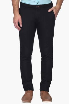 Mens Super Slim Fit 4 Pocket Solid Chinos
