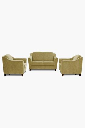 Victorian Gold Fabric Sofa (2-1-1 Sofa Set)