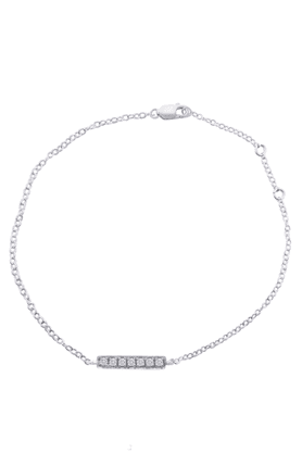 SPARKLES His & Her Collection Diamond Bracelets In 925 Sterling Silver And Real Diamond - 0.17 Cts
