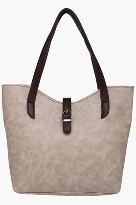 Womens Zipper Closure Synthetic Leather Tote Handbags - 201838096