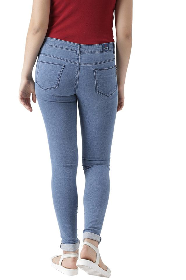 Womens Skinny Fit Rinse Wash Jeans