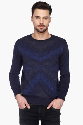 ALLEN SOLLY Mens Round Neck Printed Sweater - 201621300
