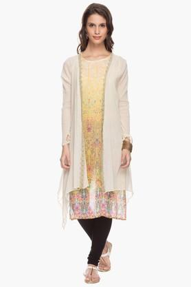 IMARA Womens Printed Kurta With Jacket