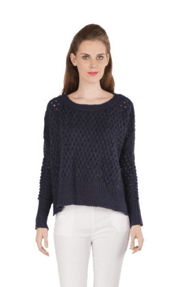 REMANIKAWomen Knitted High-Low Sweater