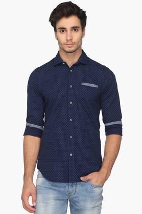 Gas Formal Shirts (Men's) - Mens Slim Fit Printed Shirt