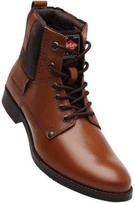 LEE COOPER Mens Lace Up Leather Boot
