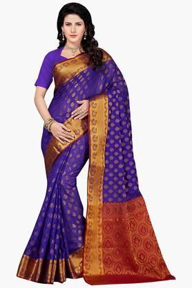 Women Banarasi Art Silk Zari Border Saree