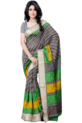 DEMARCA De Marca Multicolor Art Silk Designer DF-505C Saree