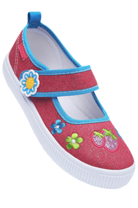KITTENS Girls Fuchsia Canvas Lite Shoe - 9697944