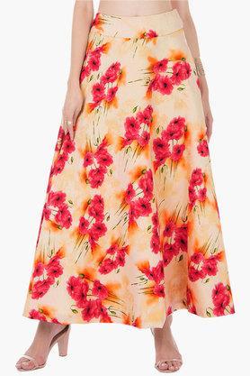 INDYAWomens Printed Long Skirt - 202498115_9111